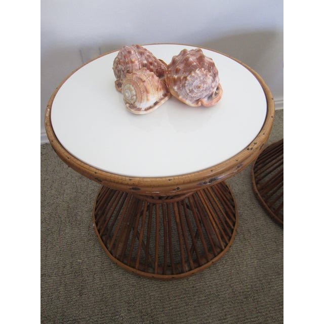 Franco Albini-Style Rattan Side Tables - A Pair - Image 7 of 8