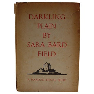Darkling Plain Book by Sara Bard Field, 1936