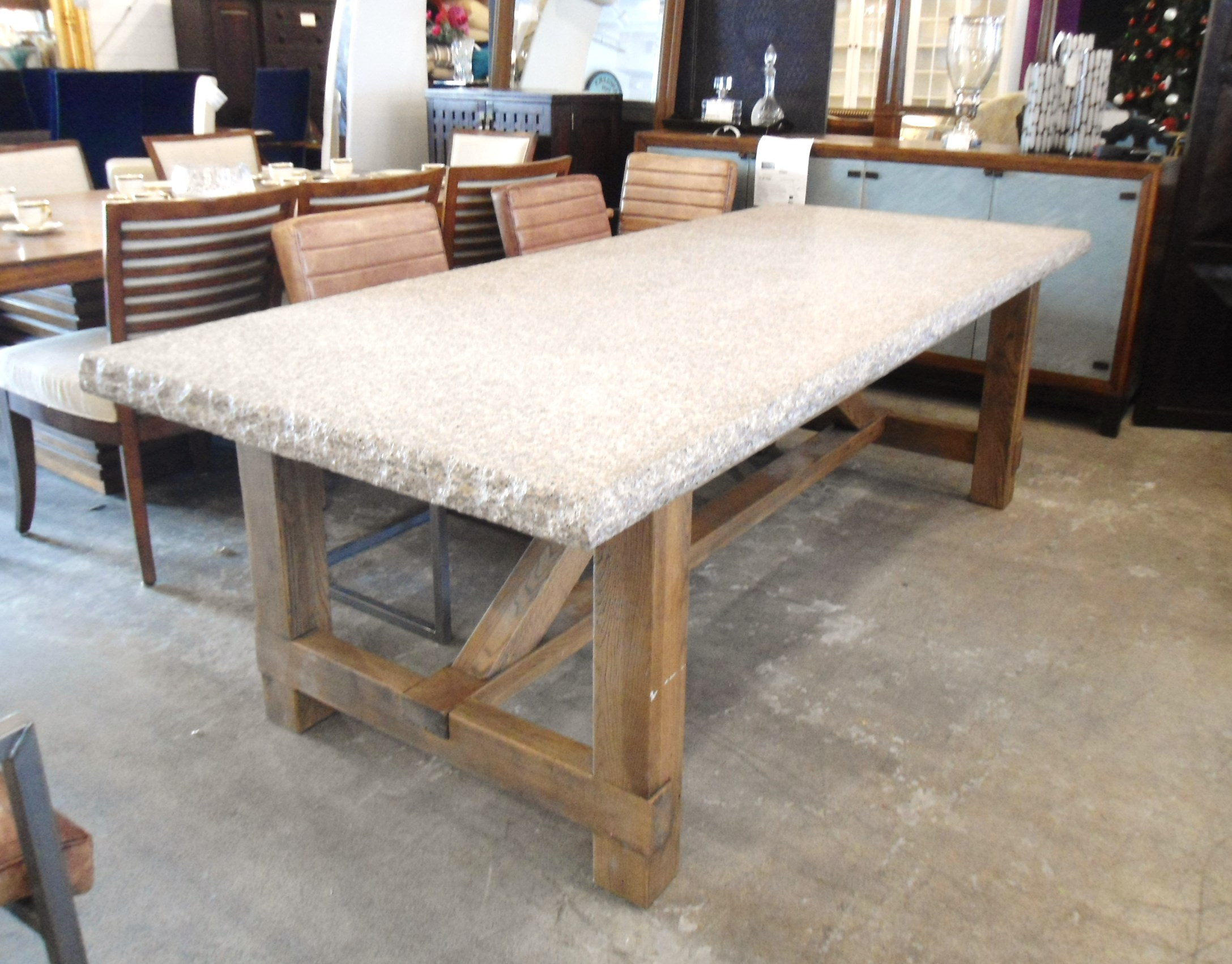 Granite Top Dining Table with Raw Wood Base Chairish : granite top dining table with raw wood base 3999aspectfitampwidth640ampheight640 from www.chairish.com size 640 x 640 jpeg 56kB