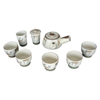 8-Piece Japanese Kutani Tea Set