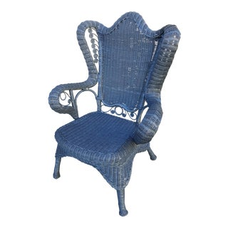 Antique Victorian Wicker Side Chair