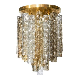 Venini Mid-Century Modern Chandelier with Multicolored Murano Pendants