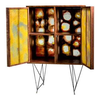 Gene Caples Wood and Painted Fiber Cabinet, USA, 1960s