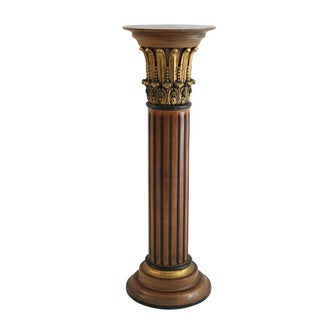 Gilded Plume Column Pedestal