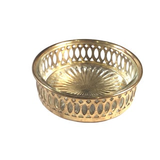 Brass & Glass Wine Coaster