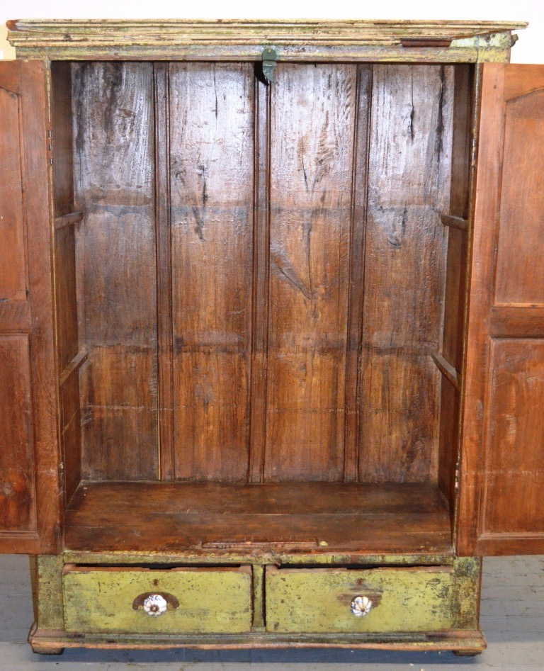 measurements of kitchen cabinets vintage rustic anglo indian teak cabinet chairish 7413