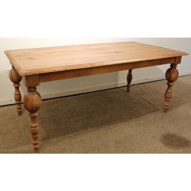 French Country Natural Raw Wood Farm Dining Table   Image 2 of 7French Country Natural Raw Wood Farm Dining Table   Chairish. French Country Dining Tables. Home Design Ideas