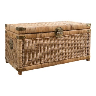 Vintage Chinoiserie Wicker Trunk
