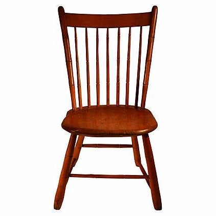 Antique Spindle-Back Barn Chair - Image 1 of 3