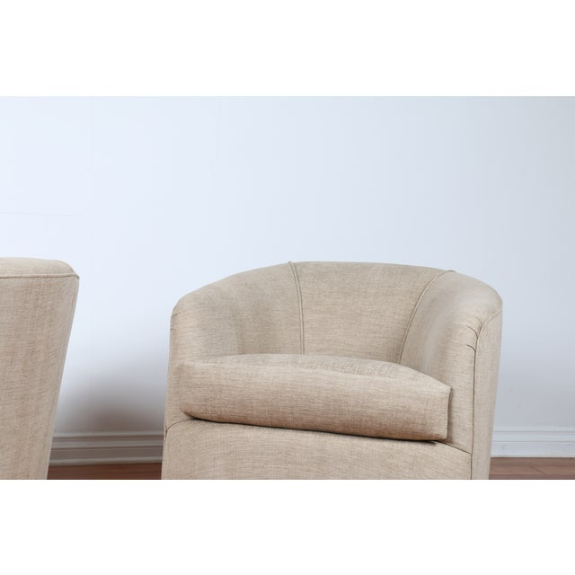Swivel Hollywood Regency Style Chairs - Pair - Image 4 of 8