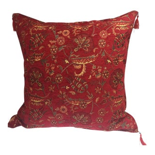 Authentic Kilim Motif Red Pillow Cover