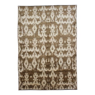 Hand Knotted Modern Ikat Rug - 5′ × 10′5″