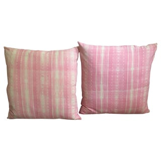 Pink Shibori Pillows - A Pair