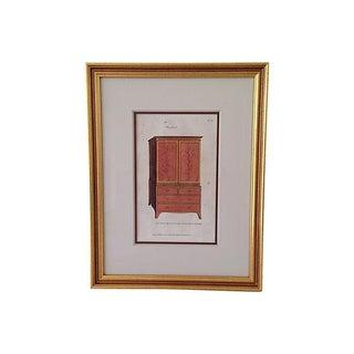 Antique Hepplewhite Lithograph