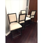 Image of Vintage French Square Fabric Stool - Set of 4