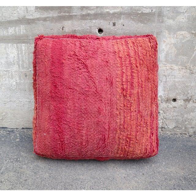 Pink & Orange Moroccan Floor Pillow - Image 2 of 3