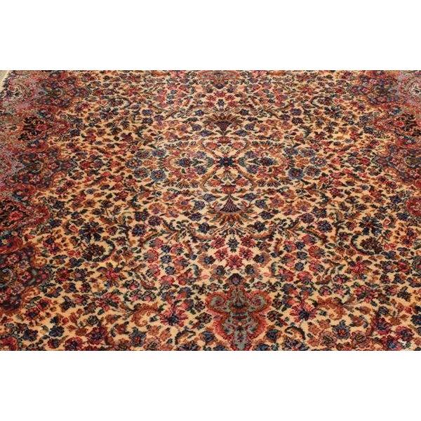 """Antique Karastan Kirman Wool Rug - 5′8″ x 9′7"""" - Image 2 of 5"""