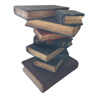 Faux Stacked Books Sculpture
