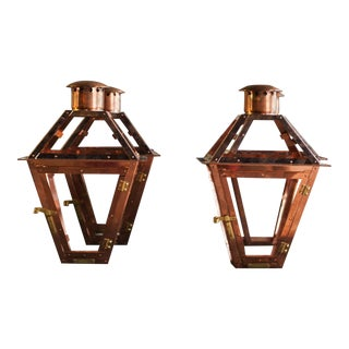 Bevolo French Quarter Copper Lanterns - a Pair