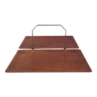 Mid-Century Modern Vintage Folding Serving Tray