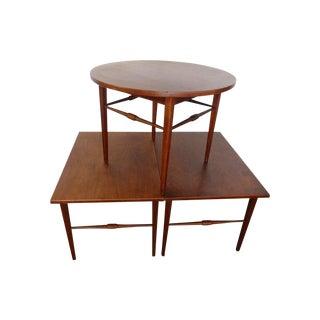 Danish Modern End Table Trio