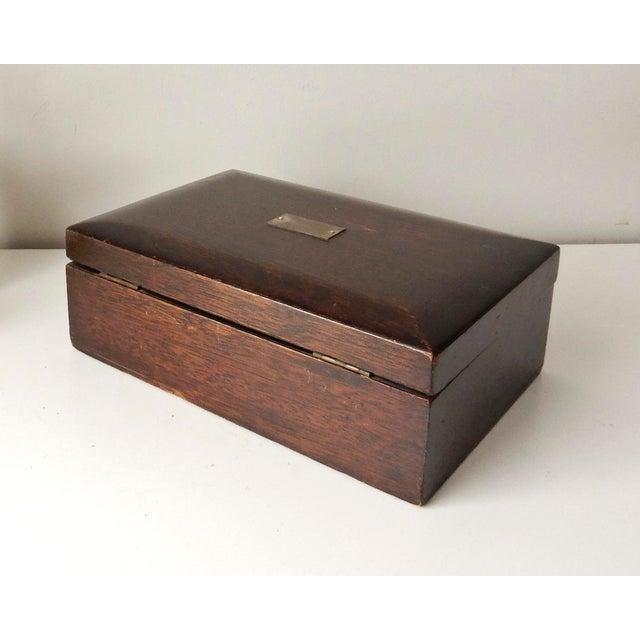 Vintage Wood Jewelry Trinket Box - Image 3 of 9
