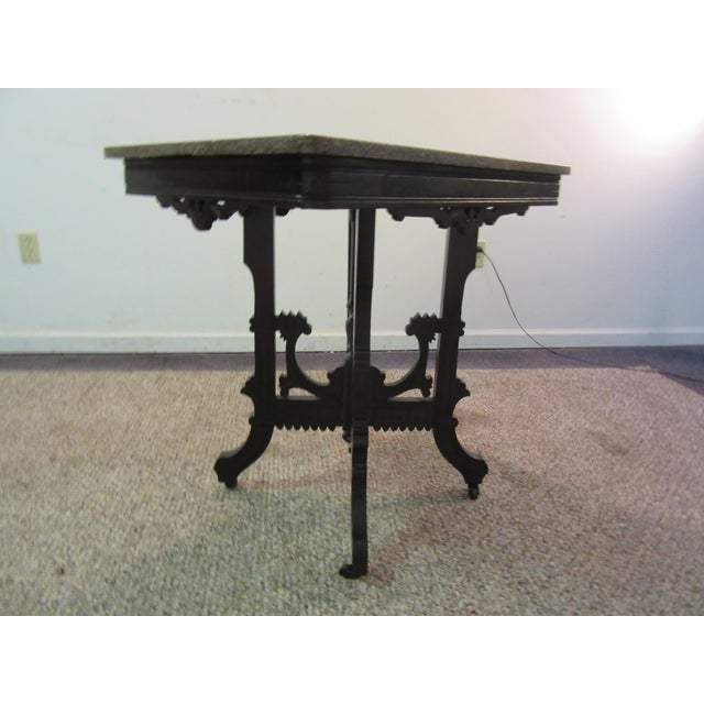 Antique Victorian Marble Top Side/Lamp Table - Image 4 of 11