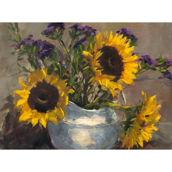 Vase of Sunflowers Painting - Image 2 of 2