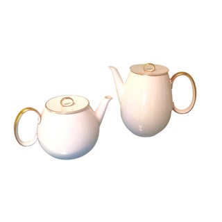 Thomas Germany Coffee & Tea Pots with Gold Trim