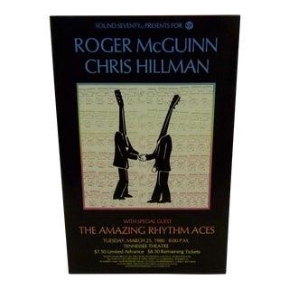 'Roger McGuinn & Chris Hillman' 1980 Concert Poster