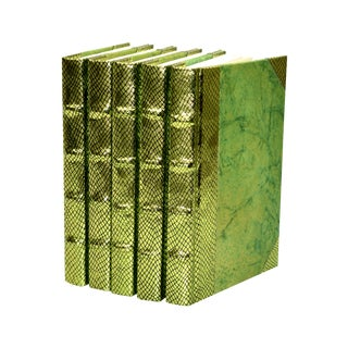 Exotic Metallic Chartreuse Book Collection - S/5