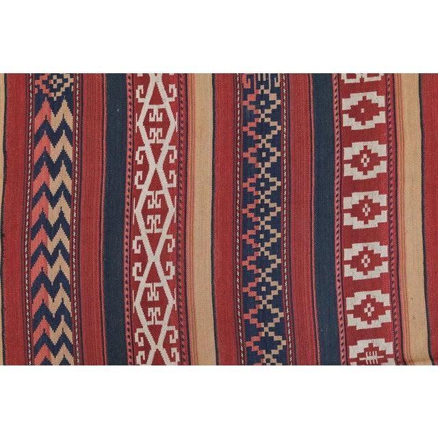 """Afghan Vintage Flat-Weave Rug - 4'7"""" x 9'5"""" - Image 2 of 4"""