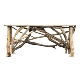 Handcrafted Driftwood Console Table