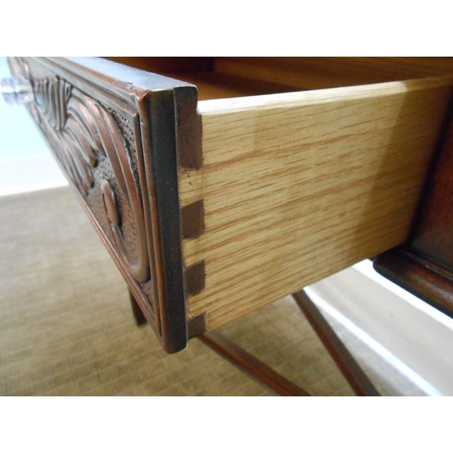 Mariette Himes Gomez Mahogany Console Table - Image 4 of 10