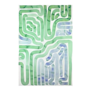 """Kate Roebuck """"Tide Pool"""" Watercolor & Ink Painting"""