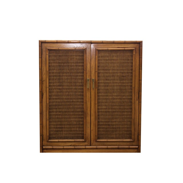 Mid-Century Faux-Bamboo Armoire by Lane Furniture - Image 2 of 8