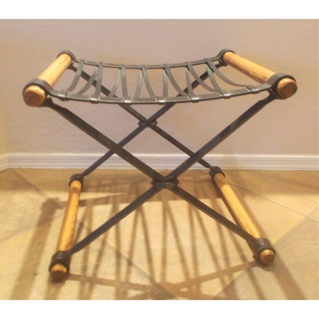 Cleo Baldon Wrought Iron Stool - Image 2 of 4