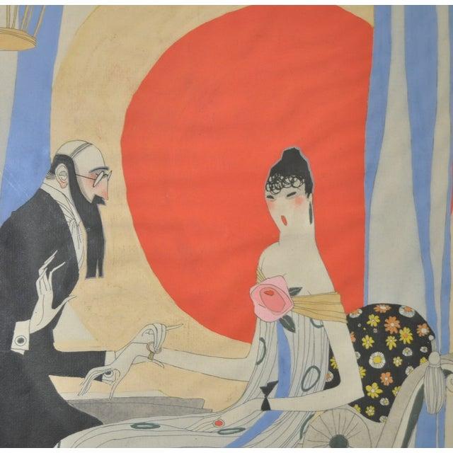 Ralph Barton (1891–1931) Art Deco Painting 1920's - Image 3 of 8