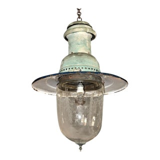 Belgian Etched Glass Lantern