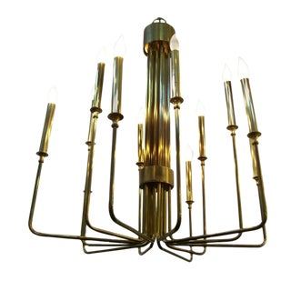Brass Chandelier in the Manner of Tommi Parzinger
