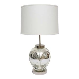 Mid-Century Modern Polished Chrome & Mercury Glass Table Lamp Base