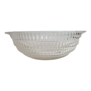 Clear Glass Serving Bowl