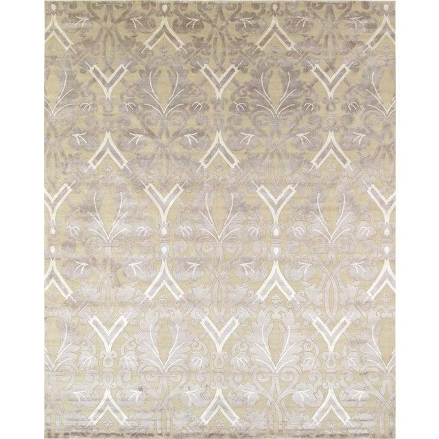 Image of Pasargad Modern Silk & Wool Rug - 9′2″ × 11′10″