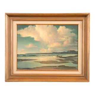 Contemporary Russell Moreton 'Morning California Seascape' Oil Painting