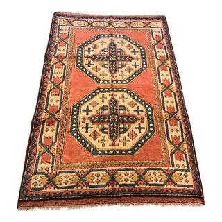 Vintage Kars Turkish Semi-Antique Rug - 4'2'' X 6'5''