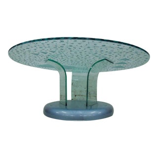 1985 Modernage Miami Postmodern Geometric Modular Glass Coffee Table