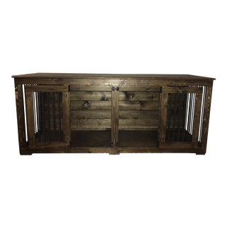 B&B Kustom Kennels Double Doggie Den Rustic Credenza