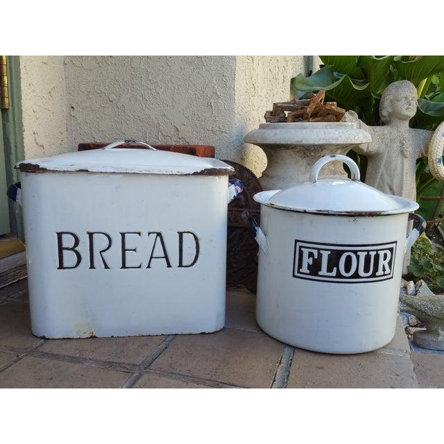 1930's English Enamel Bread Bin - Image 6 of 6