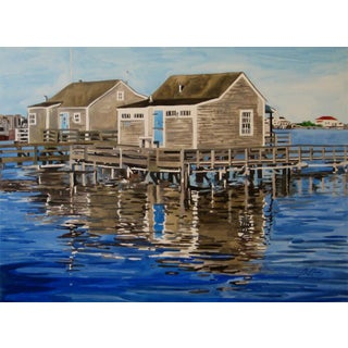"""Josh Moulton """"Old North Wharf, Nantucket"""" Giclee Print After a Painting"""