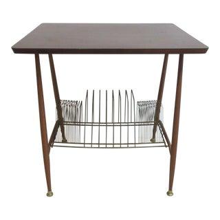 Vintage Lu Van Record Stand Table